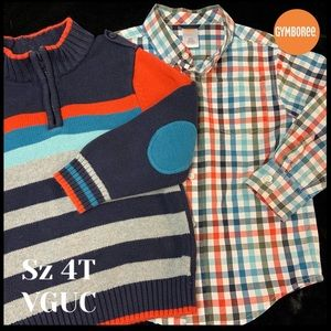 Gymbo Matched Buttoned-Down & Pullover Set!